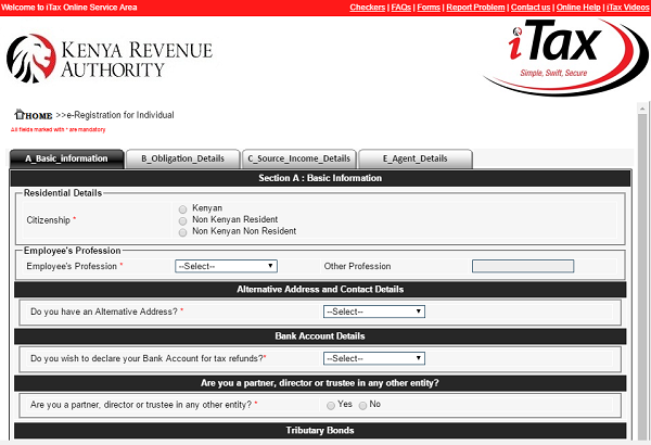How to apply for a KRA PIN on iTax